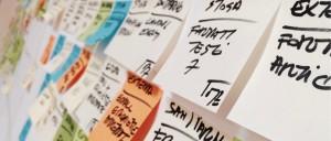 gestion de proyectos con post it