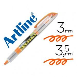 Rotulador Artline EK-640 Fluorescente Naranja Punta biselada