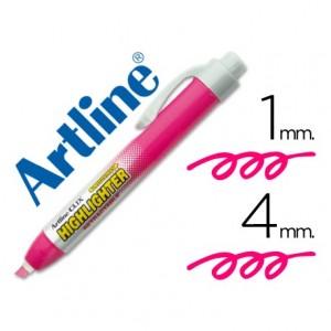 Rotulador Artline clix rosa fluorescente 4mm