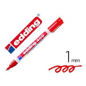 Rotulador Edding 400 Rojo 1mm Permanente