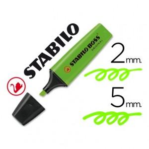 Rotulador Stabilo Boss 70 verde