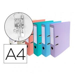 Archivador de palanca Exacompta carton din A4 lomo 70 mm compresor colores pasteles surtidos