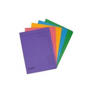 Carpeta Cartulina Reciclada A4 Exacompta con uñero Colores Surtidos 290 gr
