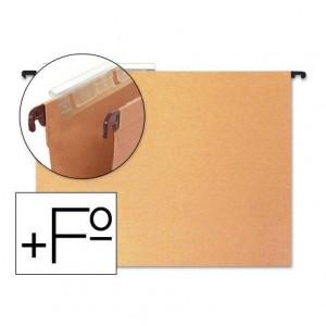 Carpeta colgante Hamelin folio prolongado visor superior kraft eco naranja
