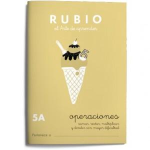 Cuaderno Rubio Matemáticas Operaciones nº 5 A Sumar, restar, multiplicar y dividir con mayor dificultad