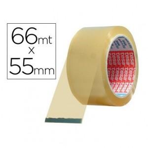 Cinta adhesiva polipropileno marca Tesa 66 mt x 50 mm transparente