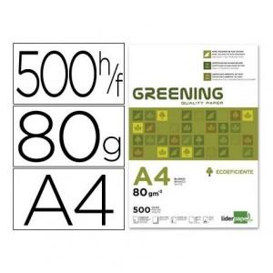 Papel Din A4 Greening 80gr 500 Hojas multifuncion