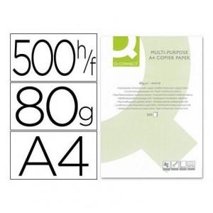 Papel Din A4 Q-Connect 80 g m2 multifuncion 500 hojas