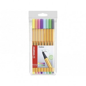 Rotulador Stabilo Punta Fibra Point 88 Estuche 8 Colores Pastel