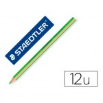 Lapices Fluorescentes Staedtler Triangular Top Star Verde Caja 12 unidades