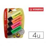 Rotulador Stabilo Boss Fluorescente 70 Pack 4 unidades Colores Surtidos