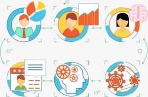 Gestionar tareas en equipo con post it