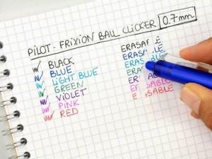 Características de los Pilot Frixion