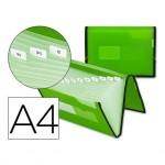 Carpeta clasificadora polipropileno Liderpapel Din A4 Verde