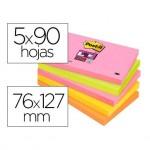 Pack 5 blocs de Post-it ® 76 x 127 mm