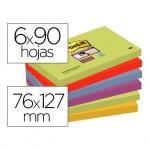 Pack 6 blocs Post-it ® 76 x 127 mm