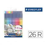 Rotuladores Staedtler Triplus color 323 edición Johanna Basford estuche 26 colores